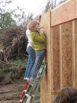 Women working on Habitat House