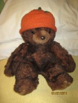 teddy bear with pumpkin hat