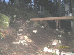 Mud & rocks made up my backyard cliff