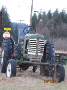 old tractor - front