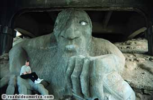 Seattle's Aurora bridge troll