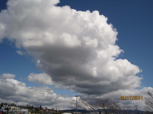 Blue sky and clouds in Bellingham