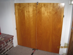 Basement cupboard doors