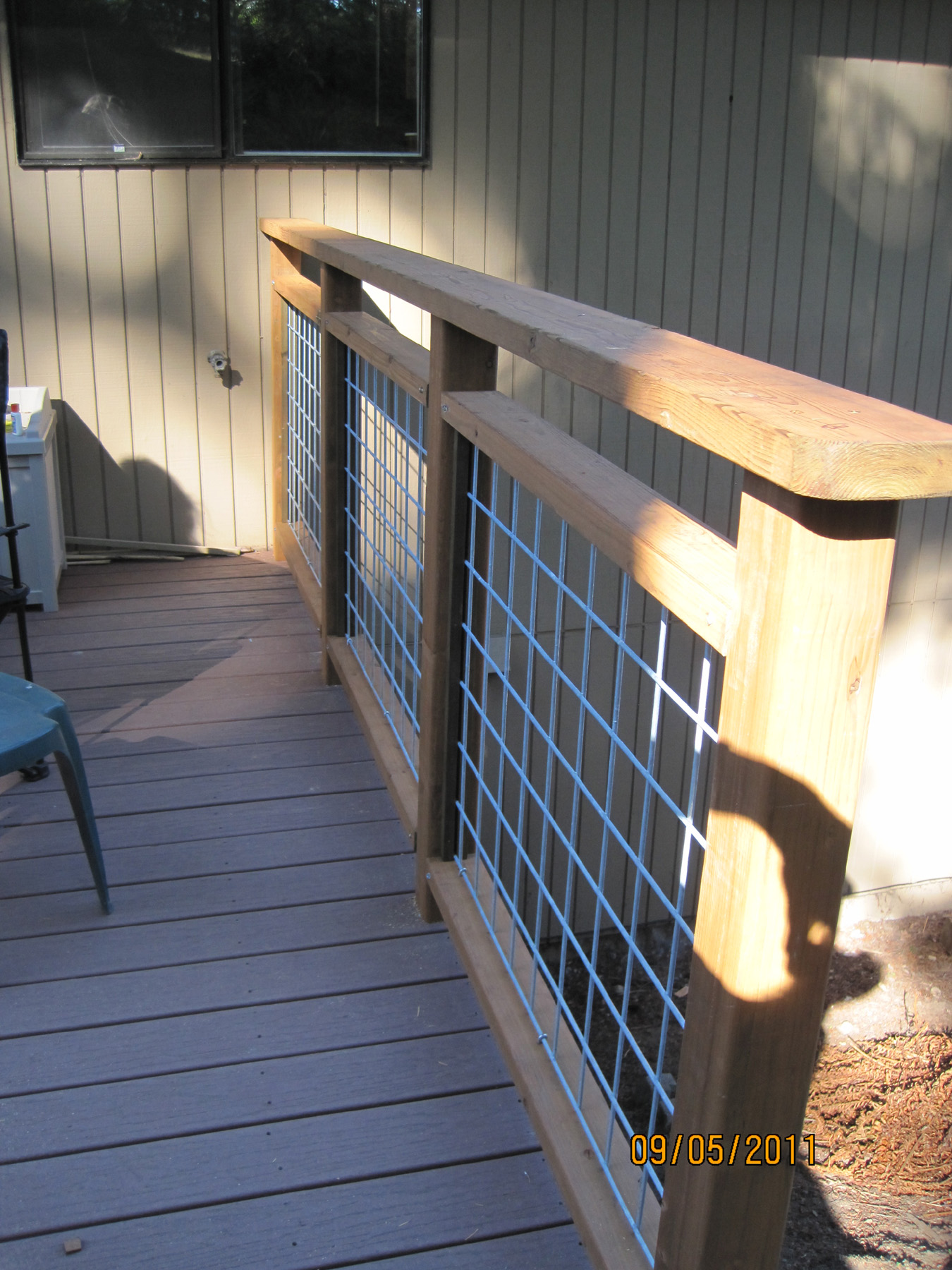 Do It Yourself Deck Railing Is Done Hamster Dreams