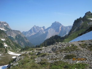 Peaks from Yellow Aster Butte trail